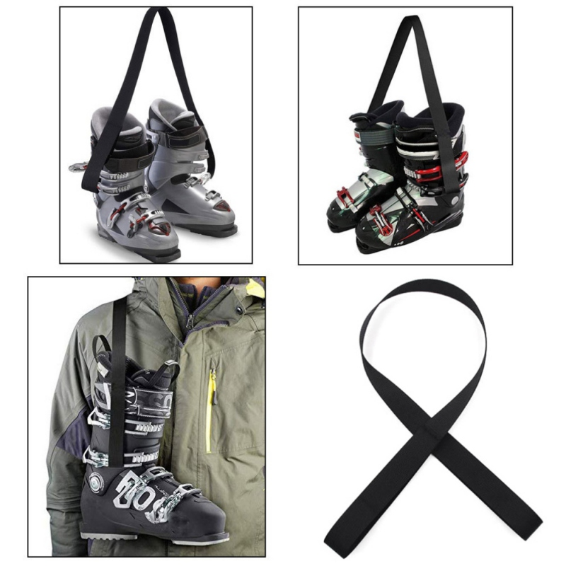 Ski Boots Carrier Strap Snowboard Boot Shoulder Sling Leash Carrying Belt For Outdoor Ski Skates Rollerblades Skiing Accessories