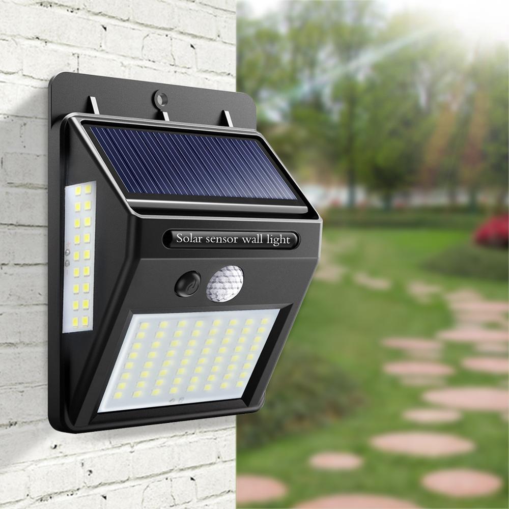 Solar LED Straße Licht für Home 20 35 100 Leds Solar Licht Wasserdicht Garten Zaun PIR Motion Sensor Erkennung Wand lampen