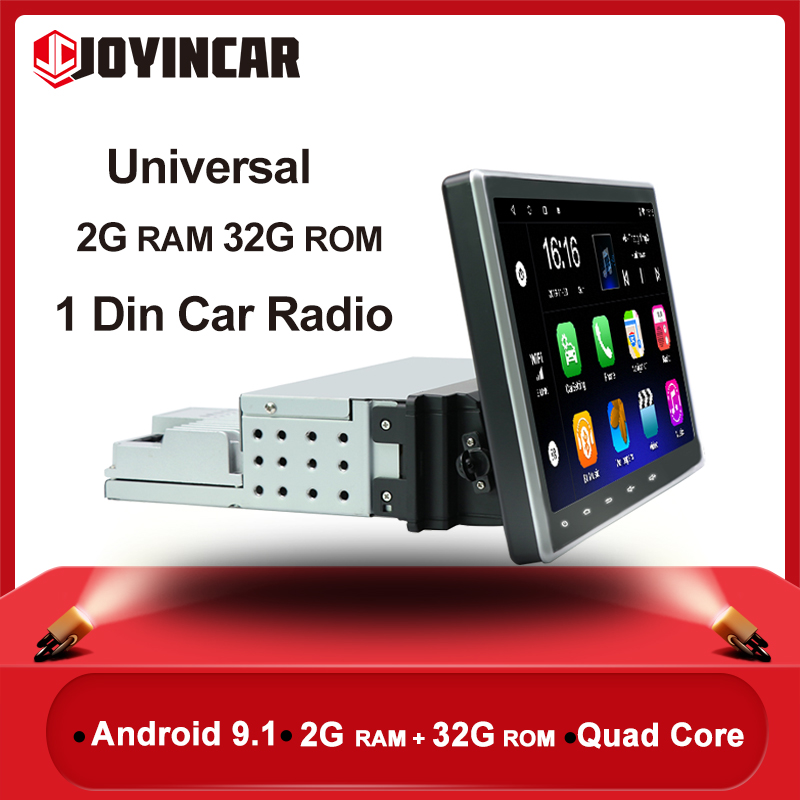 1Din Car Radio 10 Android 9.1 Car Multimedia Player GPS Navigation Universal Car Audio Stereo Bluetooth FM Mirrorlink WIFI image