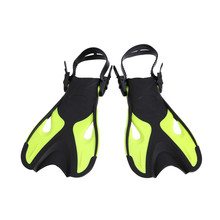 Children Kids Adjustable Super-soft Comfortable Snorkeling Swimming Fins Long Flippers Diving Training Equipment A children outdoor swimming flippers diving monofin for kids training learning accessories 8