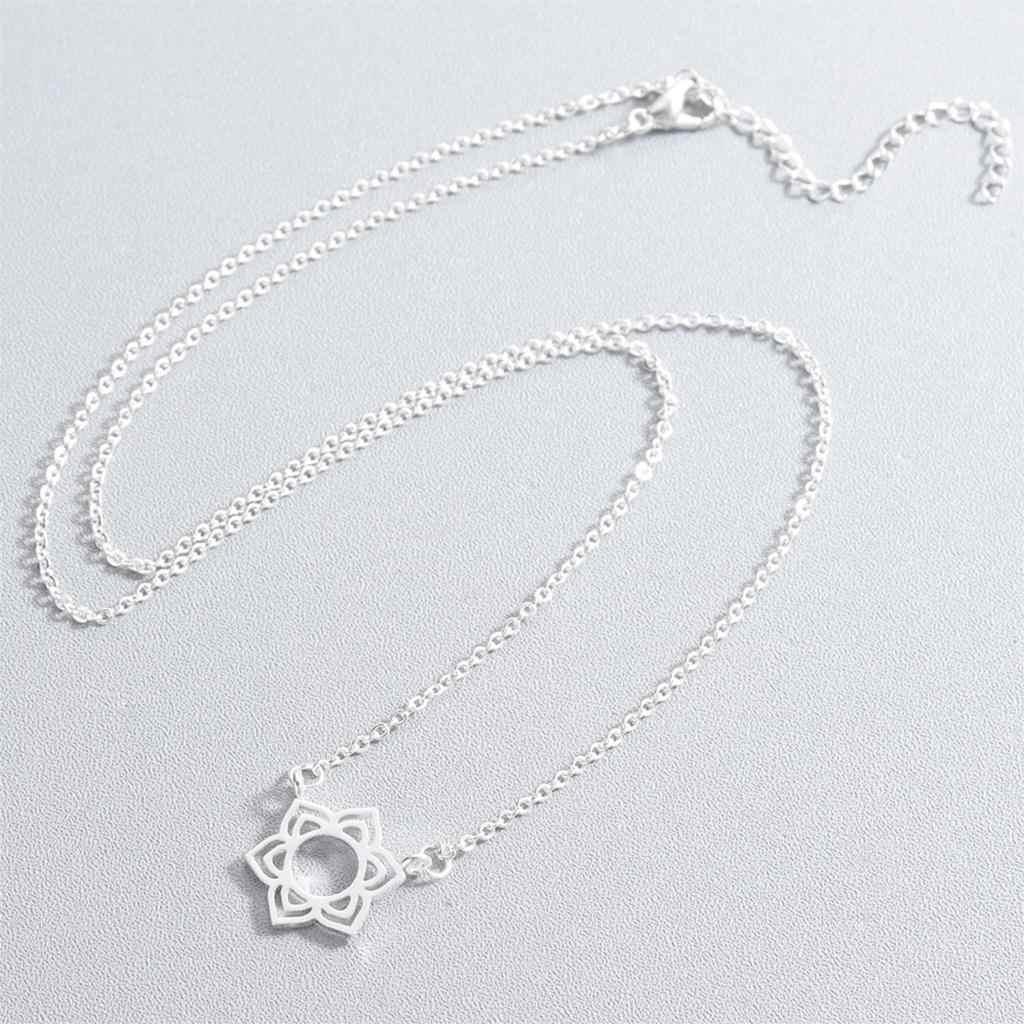 Cxwind Fashion Rose Fleur Necklace Declaration Collier Femmes Charme Maxi David of Star Necklaces Boho Bijoux Femme Collier