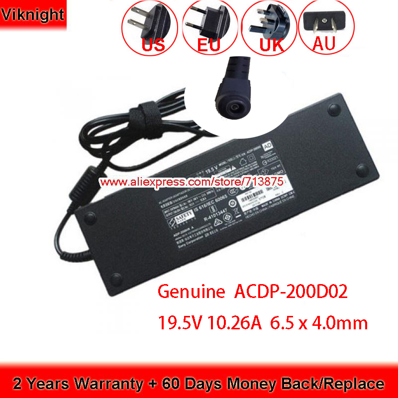 Genuine 19.5V 10.26A ACDP-200D02 KD-49XE9005 Adapter For SONY KD-55X900E KD-65SD8505 LCD KD-65SD8505 XBR-55X900E TV