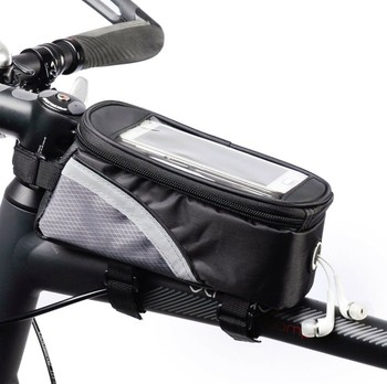 Waterproof Bicycle Bag Bike Frame Front Top Tube Bags Cycling Touch Phone Screen Case for Mobile Phone MTB Moutain Road Bike Bag trinx bicycle bag rainproof bike headtube bag cycling top tube bag mtb city bike frame front head cell phone touch screen bag