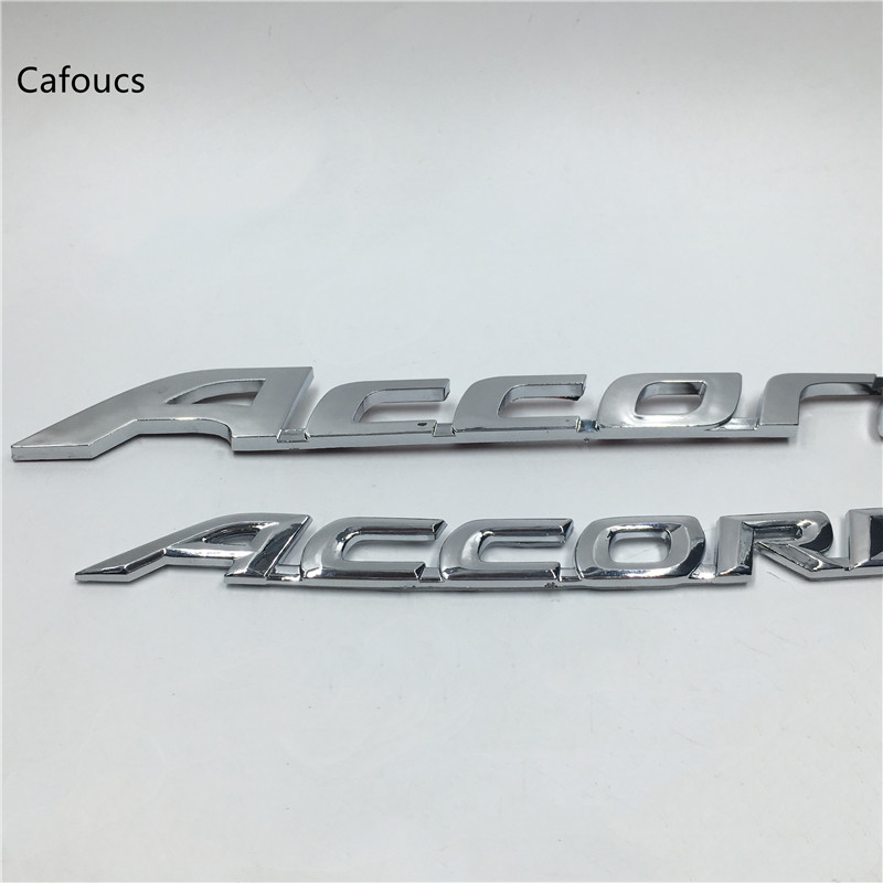 For Honda Accord Emblem Logo Rear Boot Trunk Nameplate stickers