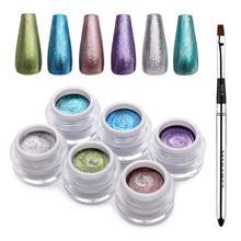 Glitter Platinum Nail Gels 6 pcs Set