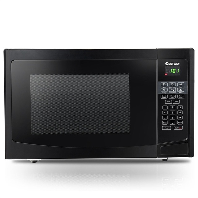COSTWAY 1.1 CuFt Programmable Microwave Oven 1000W LED Display 6 Quick Cook Setting Sensor Reheating Microwave Ovens For Kitchen 3