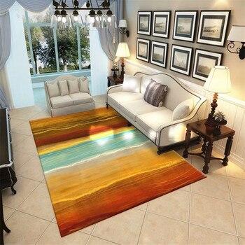 נורדי סגנון סלון שטיח שטיחים באזור פלנל רך שינה שטיחים מזרן מיטת אוקיינוס גדול דגים גדול שטיח סלון מודרני