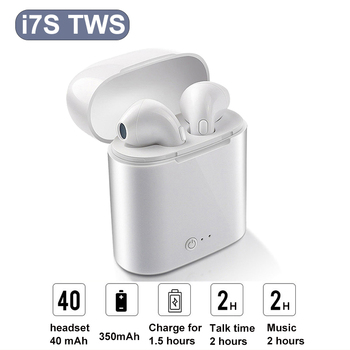 New Wireless headphones i7s tws Bluetooth Earphone mini Earbuds With Charging Box MIC Sport Headset PK AIR 2 i9s i12 i9000 pro image