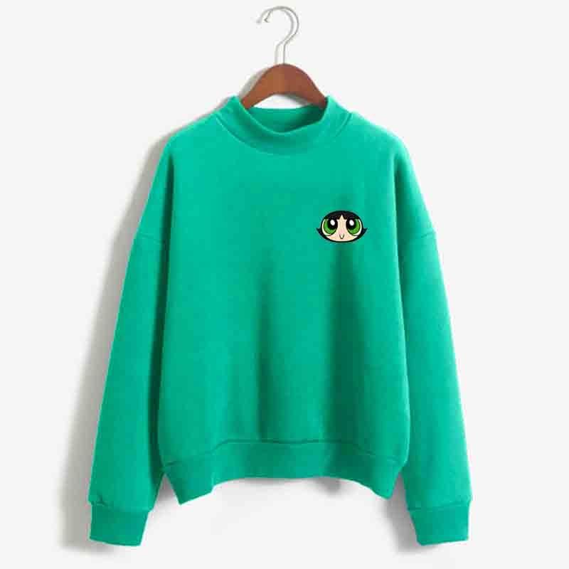 Blossom Bubbles,Buttercup Sweatshirt Casual Streetwear Harajuku Spell Color Splicing Flecce Tops Hoodies Women Fashion Clothing