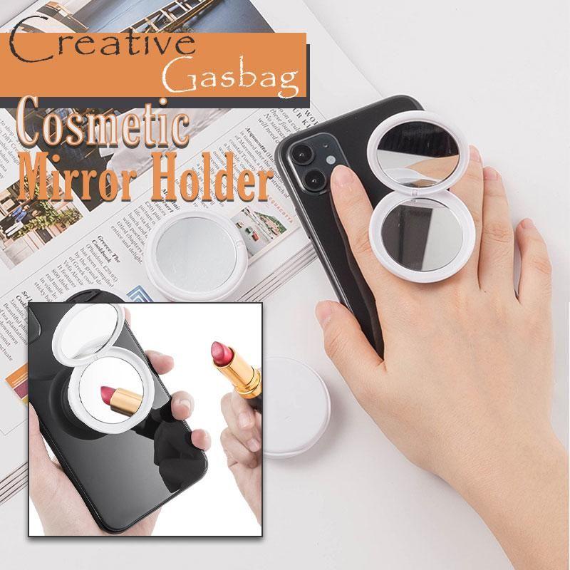 Креативный косметический держатель для телефона с зеркалом, многофункциональный держатель с вращением на 360 °