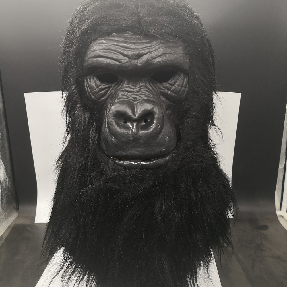 Gorilla Mask Moving Mouth Animal Fancy Dress Halloween Adult Costume Accessory