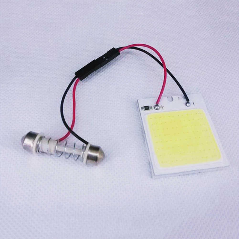 1 قطعة الأبيض 48 SMD COB LED T10 4 واط 12 فولت سيارة الداخلية مصباح لوح مصباح على شكل قبة لمبة جديد رائجة البيع