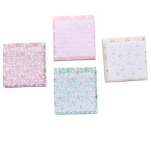 1pack/lot 7.5*7.5cm Floral Striped Note Book Four Selections Check List Creative Stationery School Accessories Sticky Notes