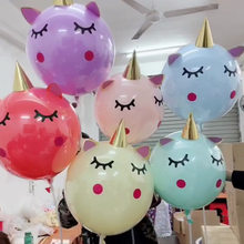 18inch Unicorn Balloon Sticker Transparent Balloons Unicorn Birthday Party Decoration Baby Shower Supplies Baloons Balons(China)