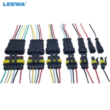 1/2/3-/.. Motorcycle-Awg Wire-Harness Hid-Socket-Adapter FEELDO Car Auto Electrical-Connector-Plug