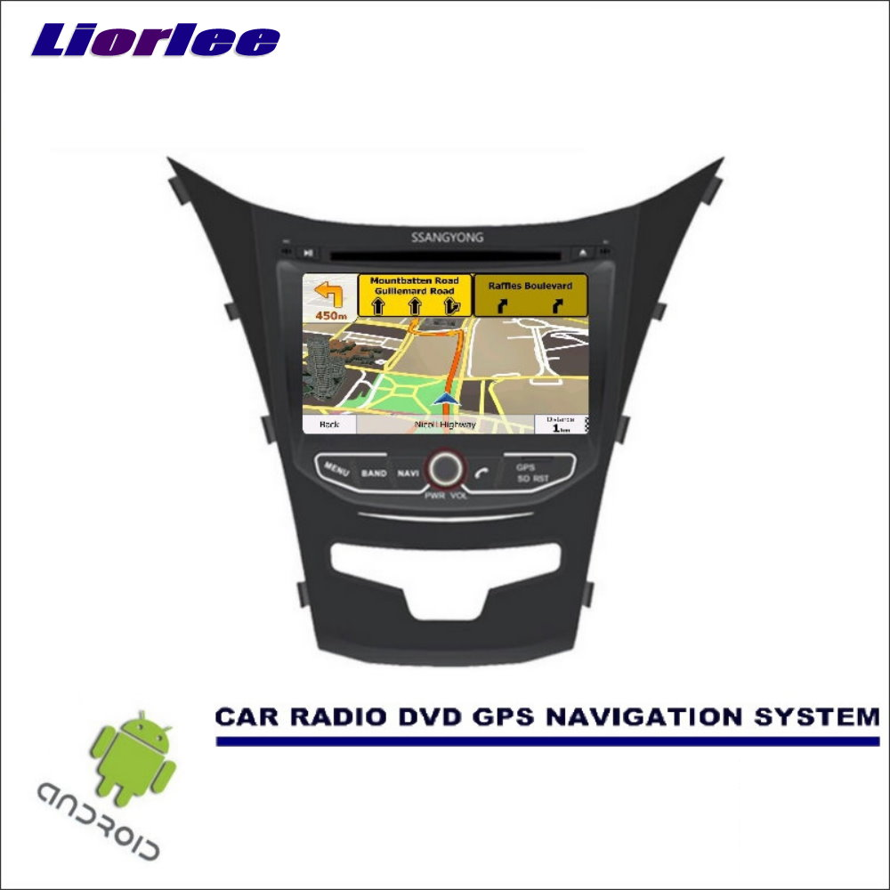 Liorlee Car Multimedia Navigation For SsangYong Korando 2013-2017 CD DVD GPS Player Navi Radio Stereo HD Screen Wince image