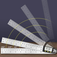 Digital Protractor Meter Angle-Ruler Stainless-Steel 360-Degree 200mm 12inch