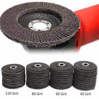 """10 Uds 4 """"100mm 40 60 80 120 molinillo de ángulo de grano disco de lija ruedas de molienda carburo de silicio aplicar a cabezales para pulir y afilar de Metal"""