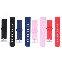 4 stücke 22mm Silikon Armband Armbanduhr Band Strap Ersatz Kompatibel für Amazfit (Rot/Blau/Schwarz/rosa)