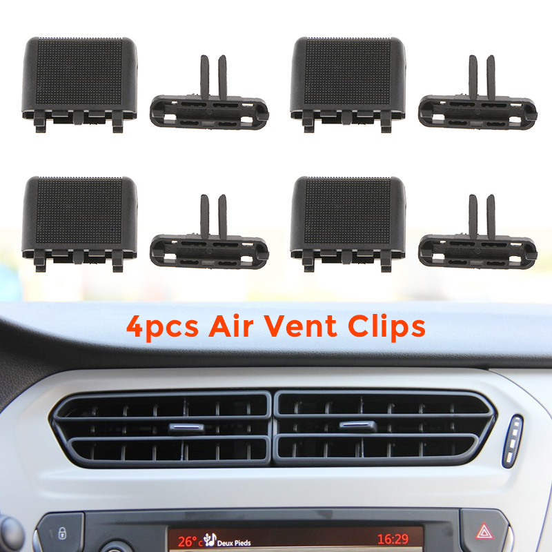 4 Set Car Dash A/C Vent Tab Clips Air Conditioning Leaf Louvre Slice Kit For <font><b>Toyota</b></font> <font><b>Prado</b></font> Nissan Honda Car <font><b>Accessories</b></font> <font><b>2019</b></font> New image