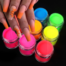 Builder Powders Nails Crystal Gel-Tips Neon Polymer Yellow 3D Red