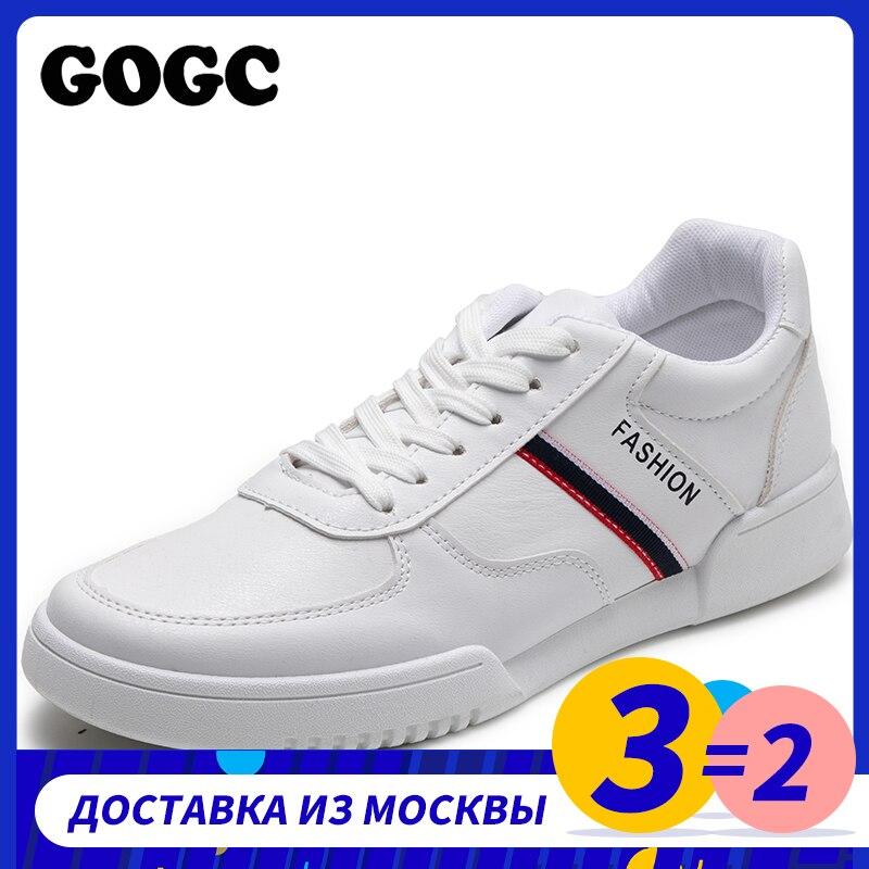¡Primavera 2020! nuevos zapatos informales para hombre, zapatos transpirables resistentes al desgaste, cómodos zapatos blancos de punta redonda con cordones, zapatillas planas