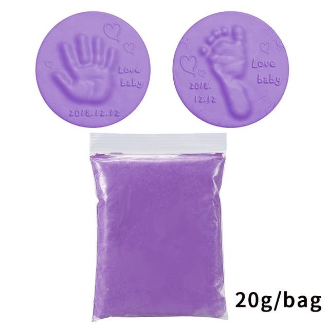 2020 Baby Care Air Drying Soft Clay Baby Handprint Footprint Imprint Kit Casting Parent-child Hand Inkpad Fingerprint Kids Toys