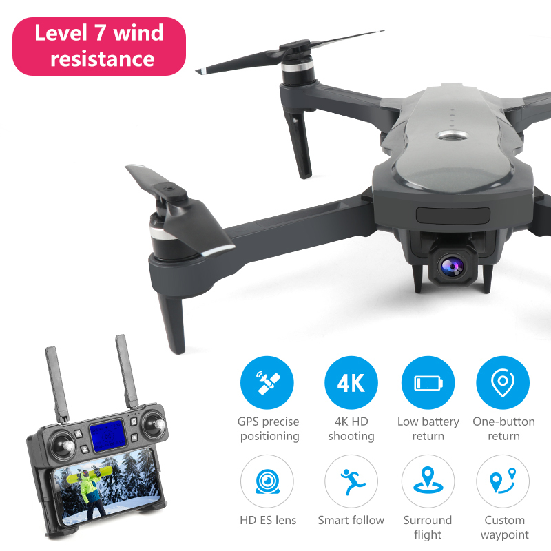 Neue Drone K20 Mit Bürstenlosen Motor 5G GPS 4K HD Dual Kamera Professionelle Faltbare Quadcopter 1800M RC abstand Spielzeug jungen Geschenk