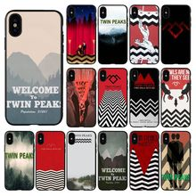 HTxian Welcome To Twin Peaks Novelty Fundas Phone Case Cover for iPhone 11 pro XS MAX 8 7 6 6S Plus X 5 5S se 2020 XR case