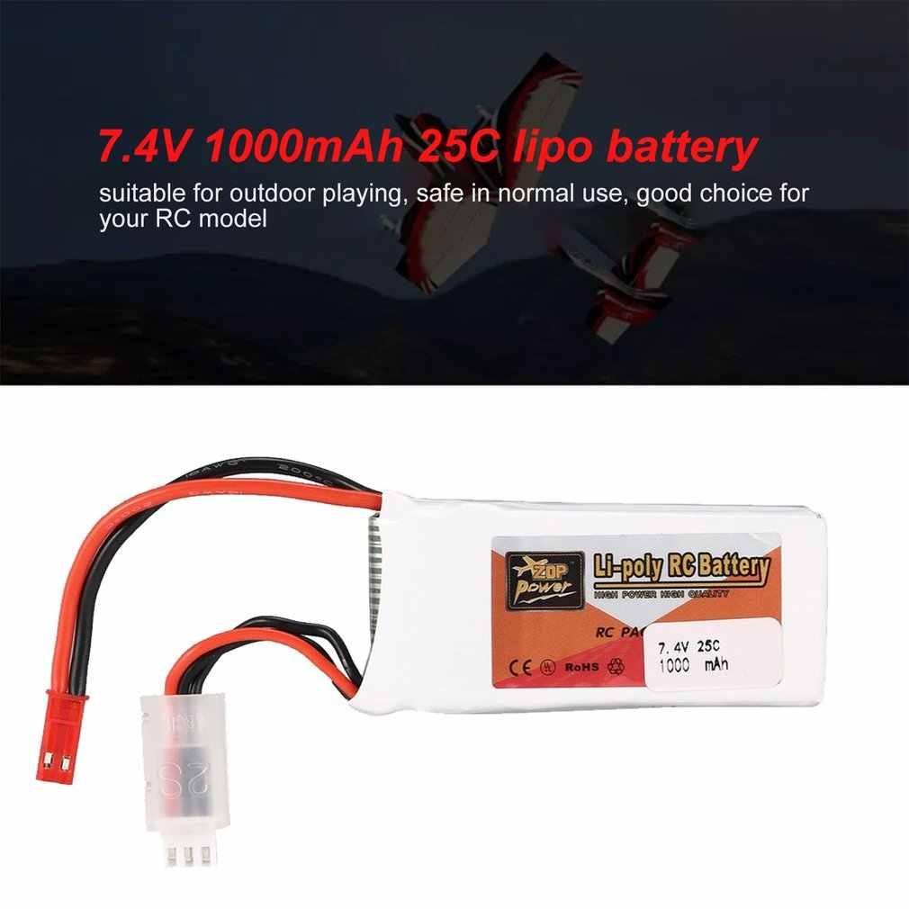 2018 Rechargeable ZOP puissance 7.4V 1000mAh 2S 25C Lipo batterie JST connecteur pour RC Drone FPV quadrirotor bricolage jouets pièces de rechange