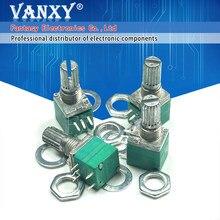 5 pces rv097ns 5k único potenciômetro ligado b5k com um interruptor de áudio 5pin eixo 15mm amplificador de potência potenciômetro de vedação
