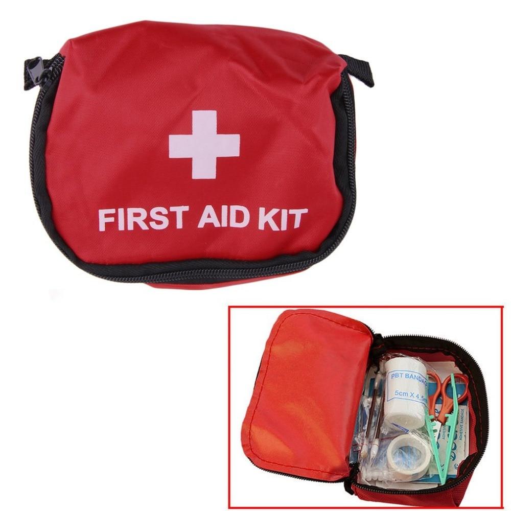 Мини-аптечка для походов на открытом воздухе, походный безопасный набор для выживания, дорожная Водонепроницаемая медицинская сумка для эк...