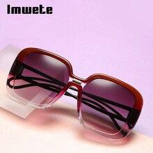 Imwete негабаритные женские солнцезащитные очки, винтажные брендовые дизайнерские солнцезащитные очки с антибликовыми прозрачными линзами, женские уличные очки UV400