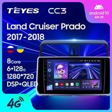 TEYES CC3 For Toyota Land Cruiser Prado 150 2017 - 2018 Car Radio Multimedia Player Navigation stereo No 2din 2 din dvd