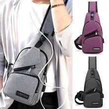 Men USB Charger Port Anti-theft Chest Pack Backpack Rucksack Shoulder Sling Bag Chest Bag mens tactical shoulder bag backpack sling chest bag assault pack messenger bag