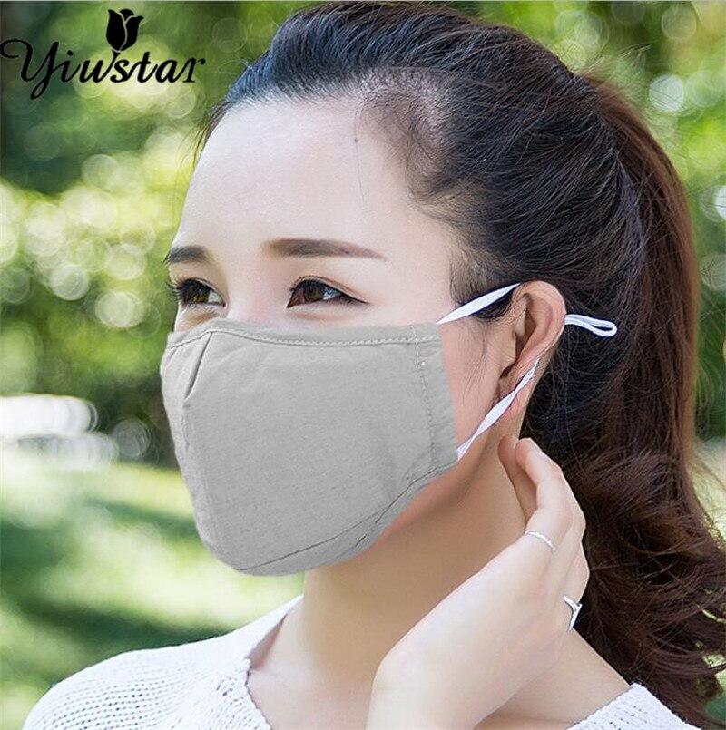 Yiustar Ant Smoke Fog Dust PM2.5 Face Mask Protective Washable Reusable Masks Beige Red Purple Color Korean Masks For Women Men