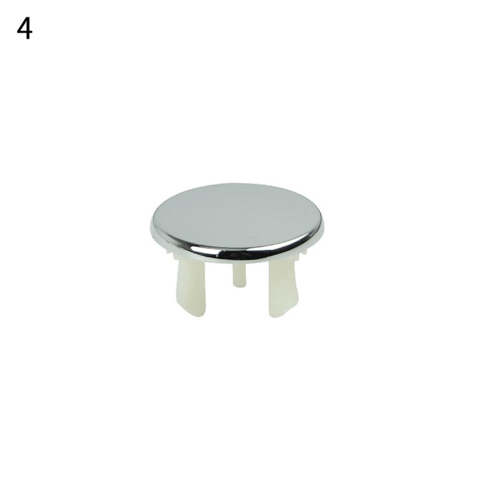 1 шт. ванная раковина кольцо для защиты от переполнения шестифутовая круглая вставка хромированное отверстие крышка - Цвет: 4