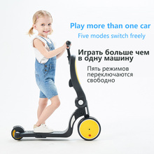 Outdoor Toys children's scooter tricycle 5 in 1  Balance Bike Walker Infant Scooter Bicycle for 1 to 6 year old