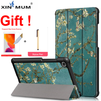 Case Tablet Cover for New Samsung Galaxy Tab S6 Lite 10.4 2020 PU Leather Stand Cover for Galaxy Tab S6 Gift Tempered Glass Film