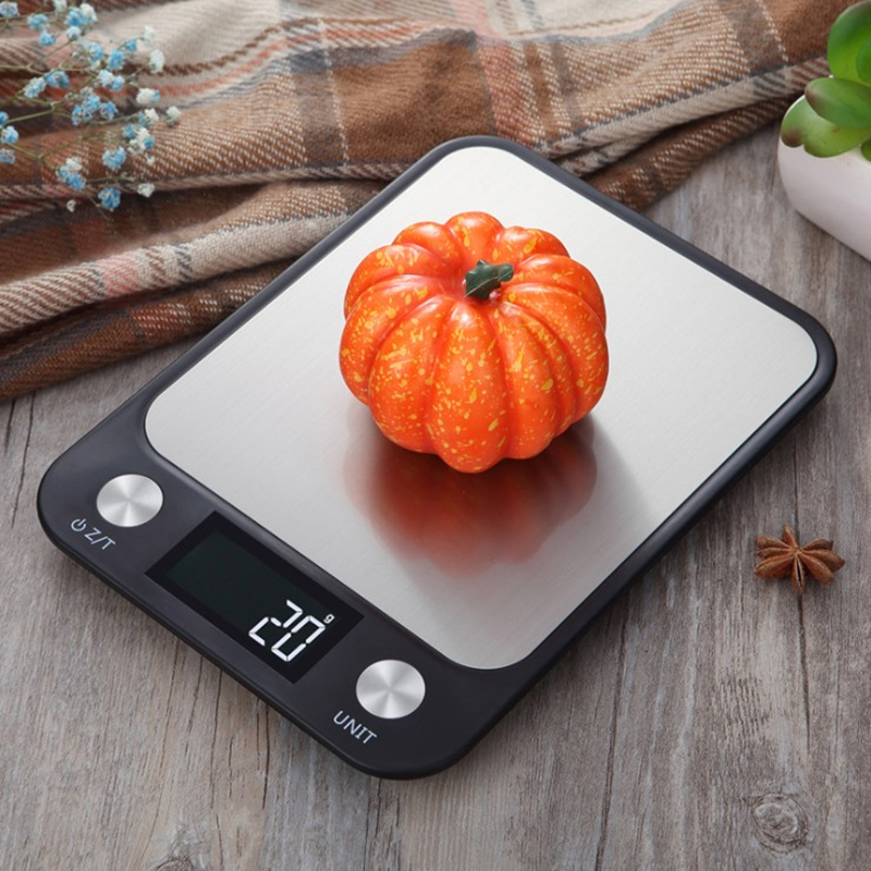 Electronic Scale, Kitchen Scale, Food Scale, Stainless Steel Kitchen Scale, Kitchen Utensils, 5kg 1g / 10kg 1g / 15kg 1g