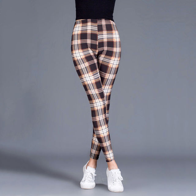 Plaid Check Leggings 8