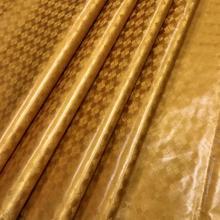 Tecido riche getzner bazin riche tissu africano africano ouro amarelo tecido de algodão preto mais recente 5 jardas/peça para o vestuário
