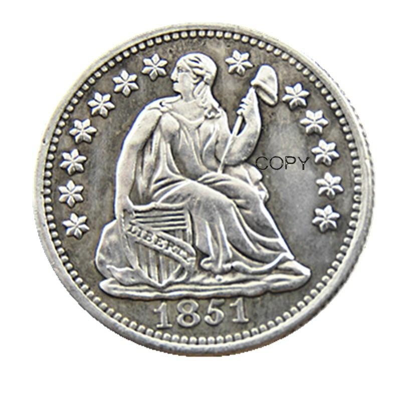 USA 1851-P-O Liberty Seated Half Dime Copy Coins