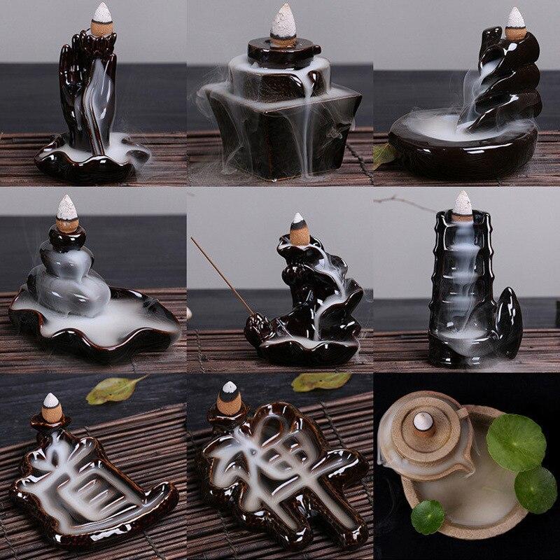 Smoke Backflow Incense Burners Tower Incense Censer Base Ceramics Creative Decoration Aromatherapy Supplies Home Decor A $