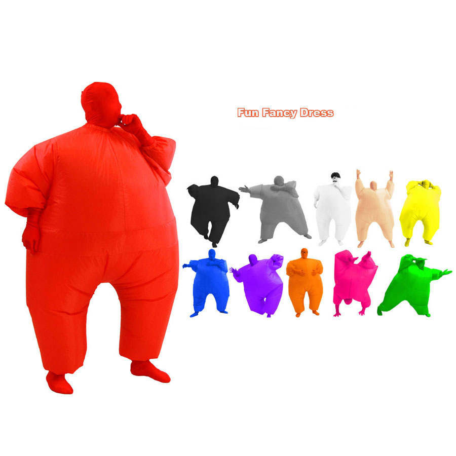 Adult Inflatable Sumo Wrestler Wrestling Suit Blow Up Fat Sumo Cosplay Costume Halloween Party Toys Fancy Dress Full Body Suit