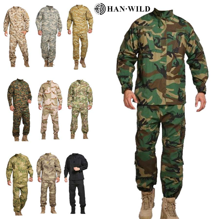 Tactical Camouflage Military Uniform Clothes Suit Men Waterproof  Abrasion Resistant Army Military Combat Jacket + Cargo Pants