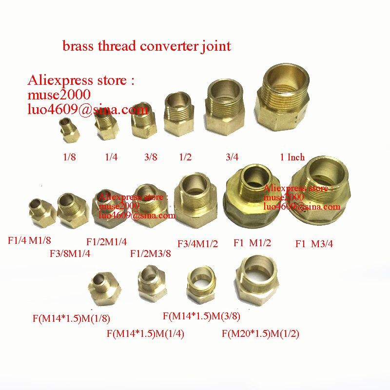 1//4 filetage BSP à 5//16 Raccords de tuyaux à barres en laiton