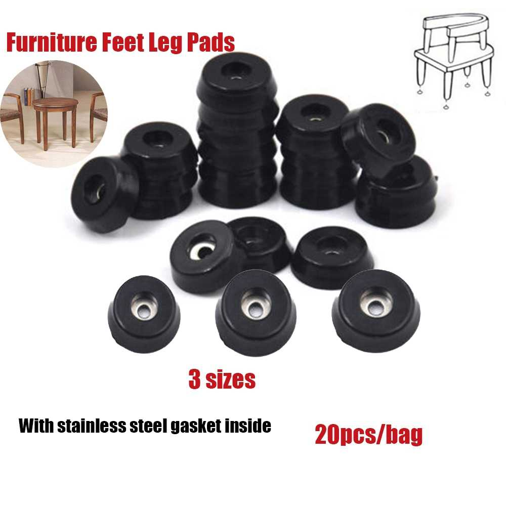 20 個の家具脚パッドタイルキャビネット足ゴムアンチスリップフロアテーブル椅子ツールホット販売ホーム & リビングアクセサリー