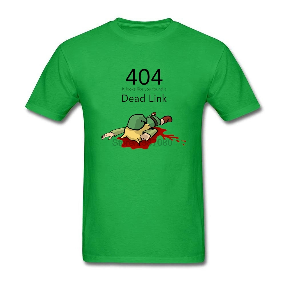 <font><b>Error</b></font> <font><b>404</b></font> Zelda Dead Link T <font><b>Shirt</b></font> Short Sleeve Custom Men T <font><b>Shirt</b></font> Popular Hot Selling Cotton Big Size T <font><b>Shirts</b></font> For Boys image