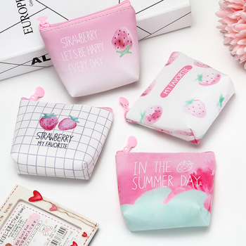 цены Mini Purse for girls coin holder wallet money bags canvas coin key card pink wallet zipper change case purses small pouch gifts